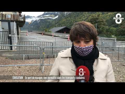 100% Masqués dans les Bus Scolaires - Reportage TV8 Mont Blanc